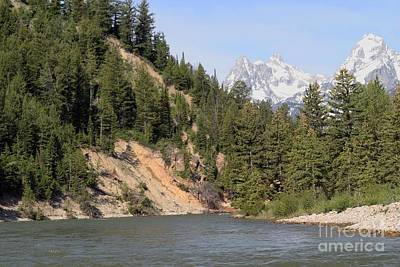 Photograph - Grand Tetons From Snake River by Living Color Photography Lorraine Lynch