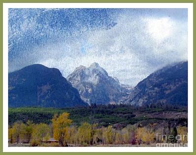 Teton Digital Art - Grand Tetons by Irina Hays