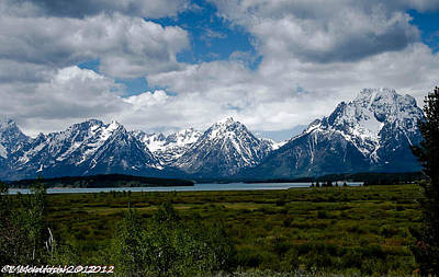 Photograph - Grand Tetons by Lauren MacIntosh
