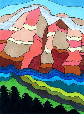 Painting - Grand Tetons by Lesa Weller
