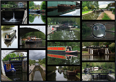 Photograph - Grand Union Canal Collage by Chris Day