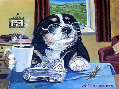 Grandads Morning Coffee  Art Print