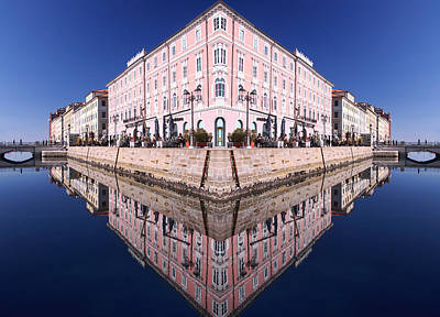 Art Print featuring the photograph Grande Canal Trieste by Graham Hawcroft pixsellpix