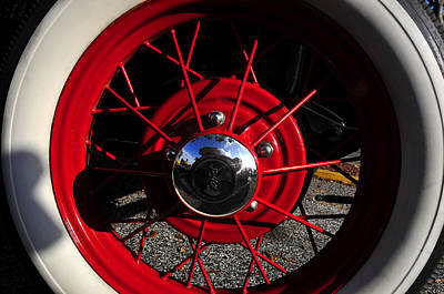 Wire Wheels Photograph - Grandfathers Red Wheels by David Lee Thompson