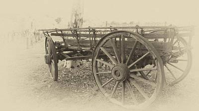 Wagon Wheels Photograph - Grandfather's Sunday Drive by Douglas Barnard
