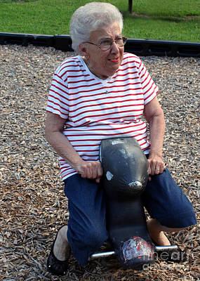 Photograph - Grandma Skunkrider by Susan Stevenson