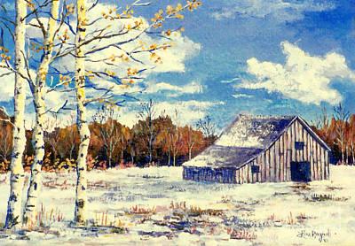 Painting - Grandma's Barn by Lou Ann Bagnall