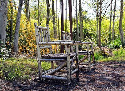 Grandmas Country Chairs Art Print by Athena Mckinzie