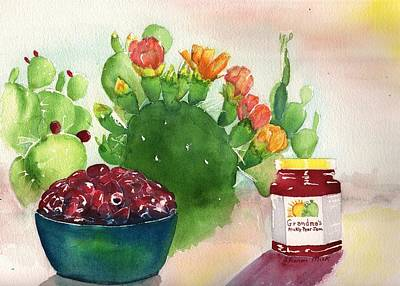 Painting - Grandmas Prickly Pear Jam by Sharon Mick