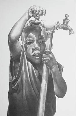 Artist Curtis James Drawing - Grandma's Water I by Curtis James