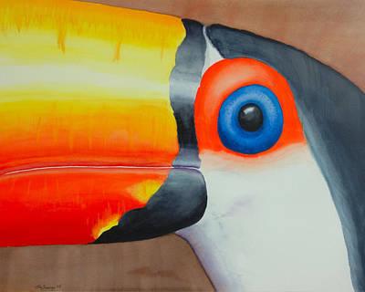 Painting - Grandpa Toucan by John  Sweeney