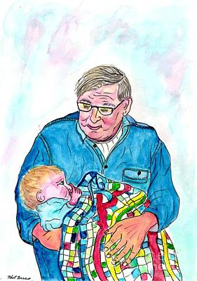 Painting - Grandpas Bundle Of Joy by Philip Bracco