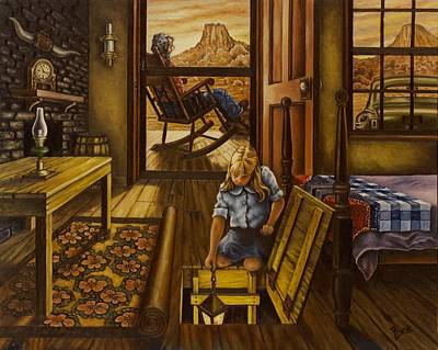 Lone Ranger Painting - Grandpa's Place by Michael Frank