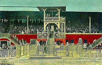 Painting - Grandstand At Saratoga by Dwight Goss