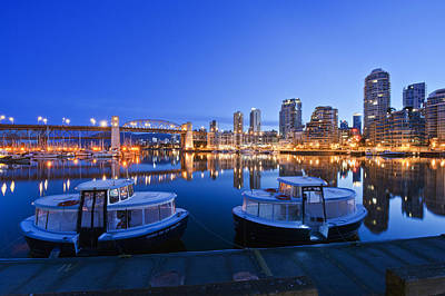Granville Island At Dawn. The Vancouver Art Print by Rob Tilley