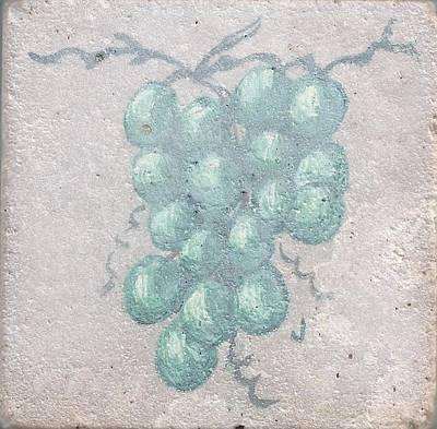 Grape Cluster Art Print by Jackie Lewis
