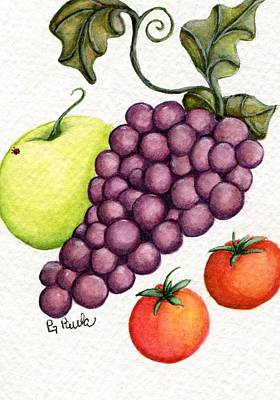 Grape Salad Art Print