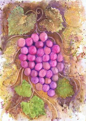 Painting - Grape Vine Fusion by Audrey Peaty
