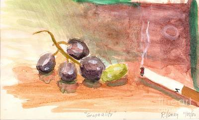 Painting - Grapeality by Rod Ismay