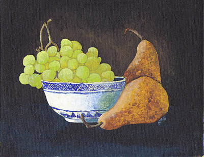 Painting - Grapes And Pears by Nicole Grattan