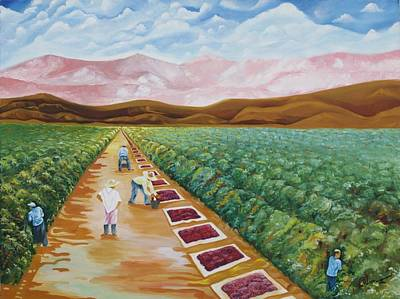 Grapes Farmers Art Print by Johnny Otilano
