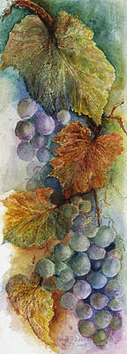 Communion Painting - Grapes Iv by Judy Dodds