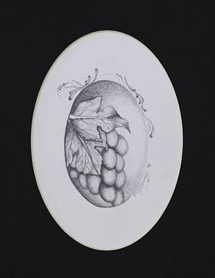 Grapes Print by Kim Stewart
