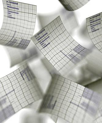 Accountancy Photograph - Graph Paper, Abstract Artwork by Christian Darkin