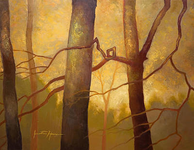 Graphic Trees Art Print by Jonathan Howe