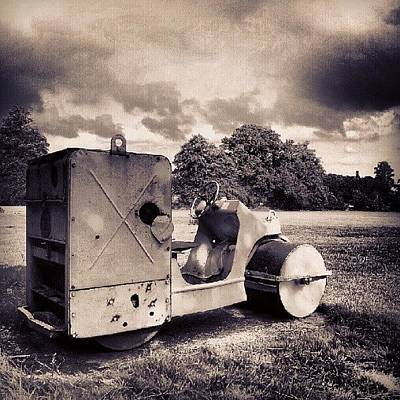 Machine Photograph - Grass Roller by Dave R