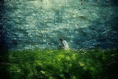 Art Print featuring the digital art Grassy by Andrea Barbieri