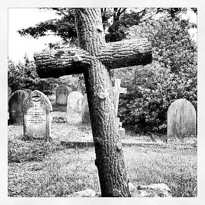 Norfolk Photograph - Grave #grave #cross #stone #yarmouth by Invisible Man