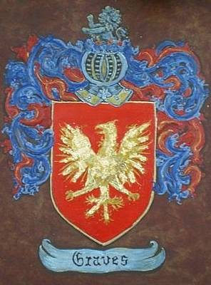 Shield Painting - Graves Family Crest And Coat Of Arms by Nancy Rutland