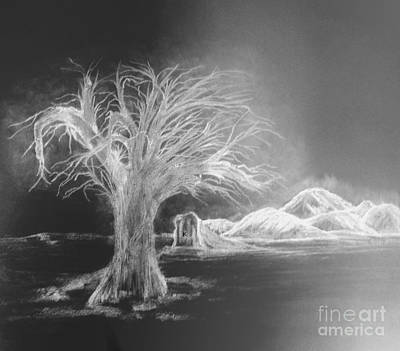 Abstract Expressionist Drawing - Gravesite by John Krakora