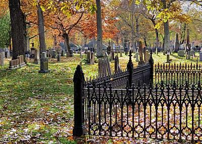 Photograph - Gravestones by Janice Drew