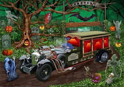 Graveyard Ghost Tours Art Print by Glenn Holbrook