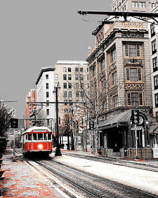 Photograph - Gray Line Trolley by Lizi Beard-Ward
