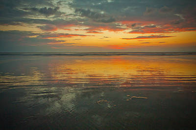 Photograph - Gray Sand Sunset by Anthony Doudt