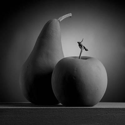 Pyrography - Gray Variations - Apples by Ovidiu Bastea