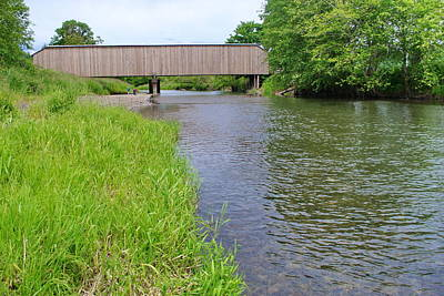 Photograph - Grays River Covered Bridge by Ansel Price