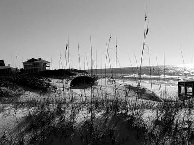 Photograph - Grayton Beach Black And White by Judy Wanamaker