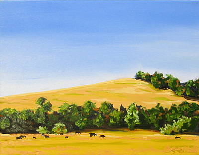 Painting - Grazing by Sarah Gayle Carter