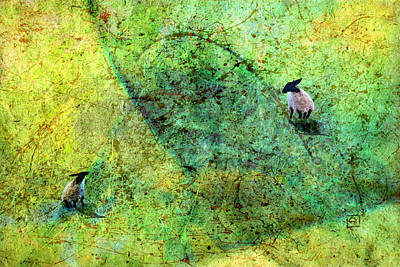 Digital Art - Grazing The Pollock Field by Jean Moore