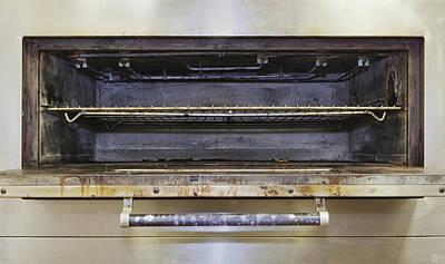 Greasy Electric Stove Oven Door Open Art Print by Douglas Orton