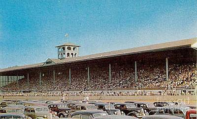 Painting - Great Allentown Fair Racetrack Around 1940 by Dwight Goss