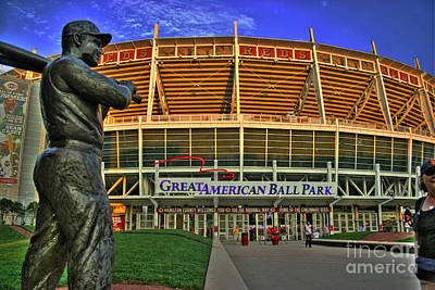 Photograph - Great American Ball Park Hdr by Morgan Wright