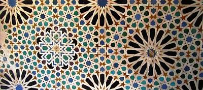 Photograph - Great Ancient Artistic Tilework Design Granada Spain by John Shiron