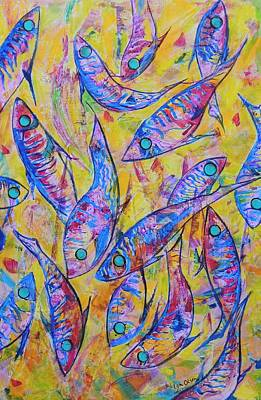 Art Print featuring the painting Great Barrier Reef Fish by Lyn Olsen