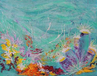 Art Print featuring the painting Great Barrier Reef Life by Lyn Olsen