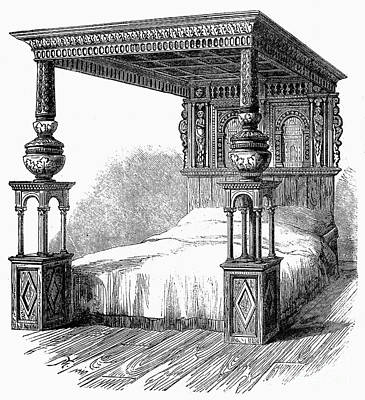Great Bed Of Ware, C1590 Art Print by Granger